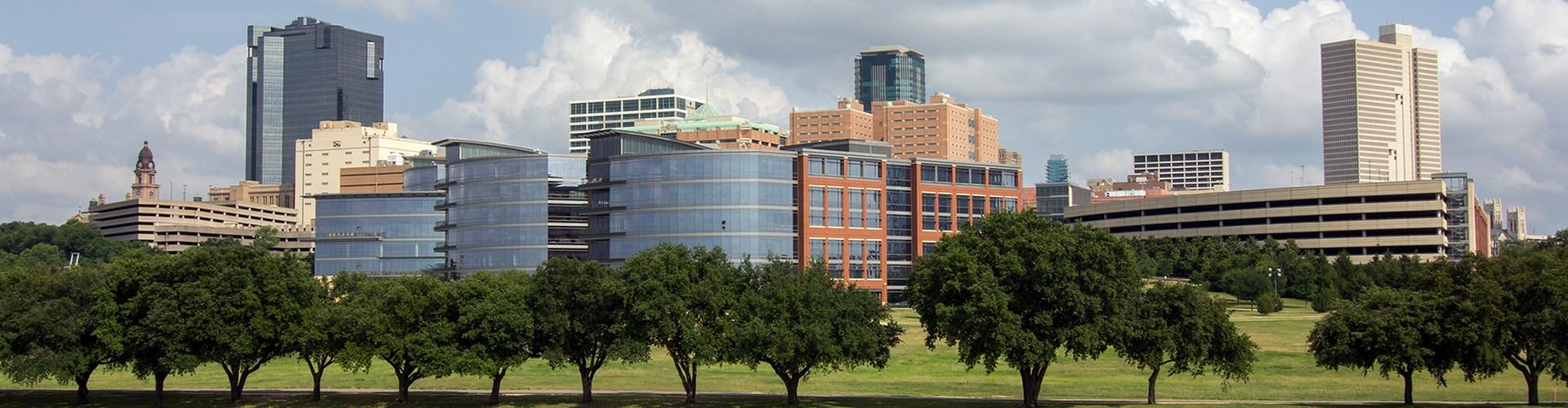 Fort Worth, Texas city skyline