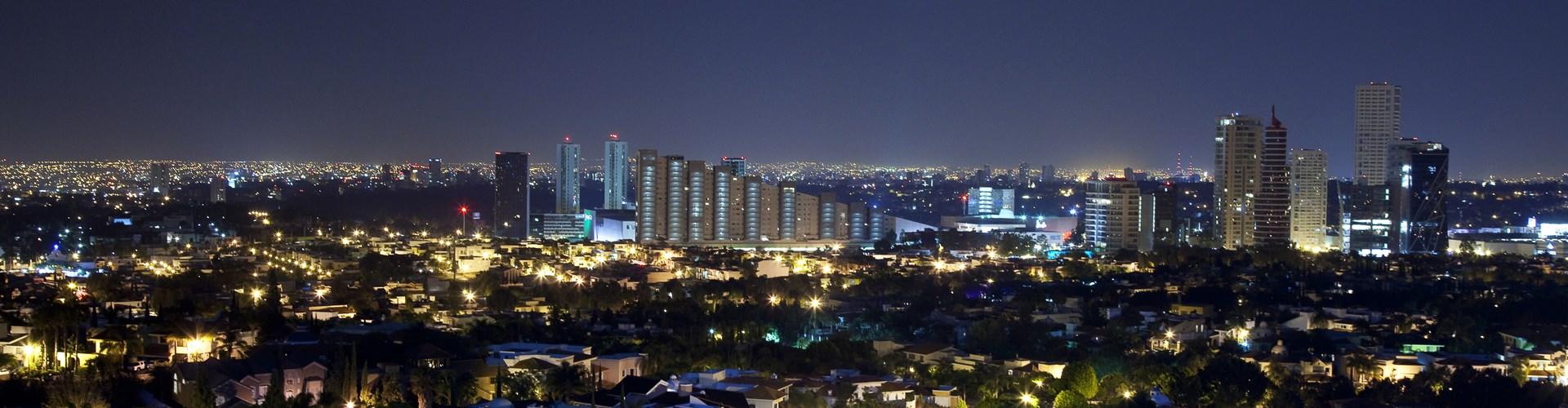 Panorama del horizonte de Guadalajara, México.