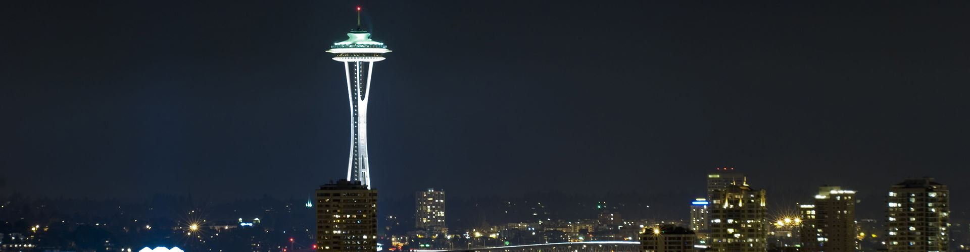 Seattle Space Needle at night