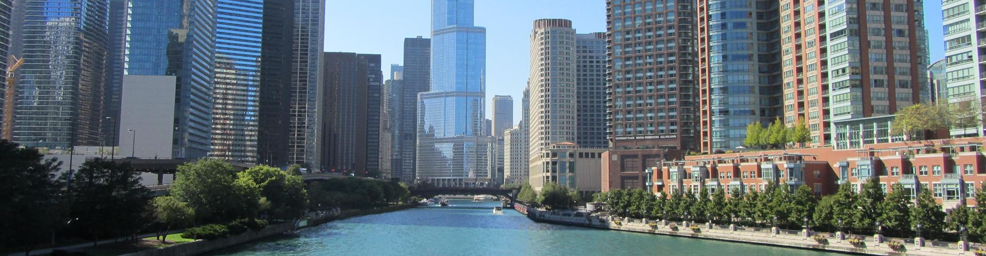 The city of Chicago and the Chicago River