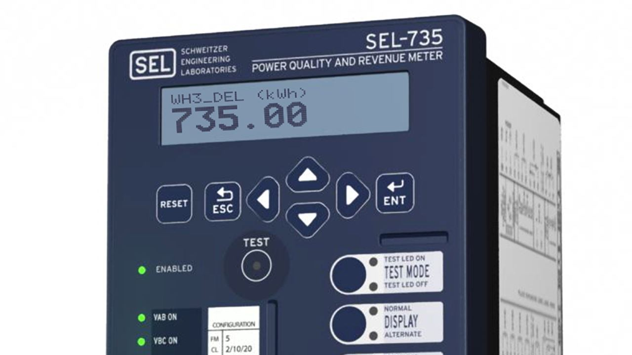 SEL-735 Power Quality and Revenue Meter | Schweitzer Engineering  Laboratories